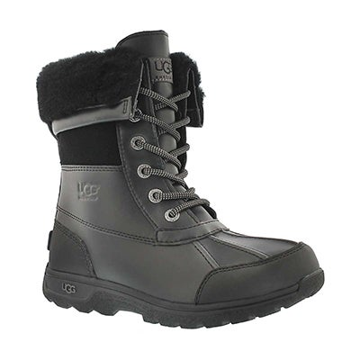 UGG Australia Kids' BUTTE II black waterproof winter boots