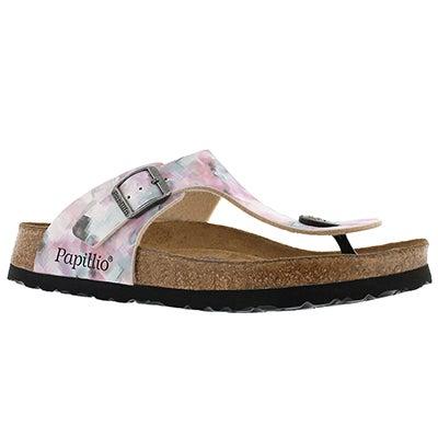 Lds Gizeh pixel rose BF thong sandal