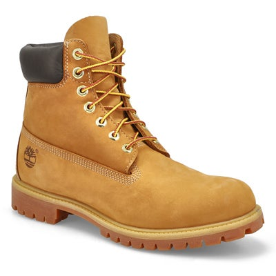 "Timberland Men's PREMIUM 6"" wheat nubuck waterproof boots"