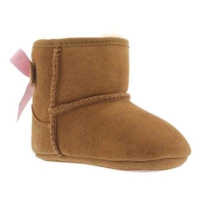Inf Jesse Bow chestnut sheepskin boot