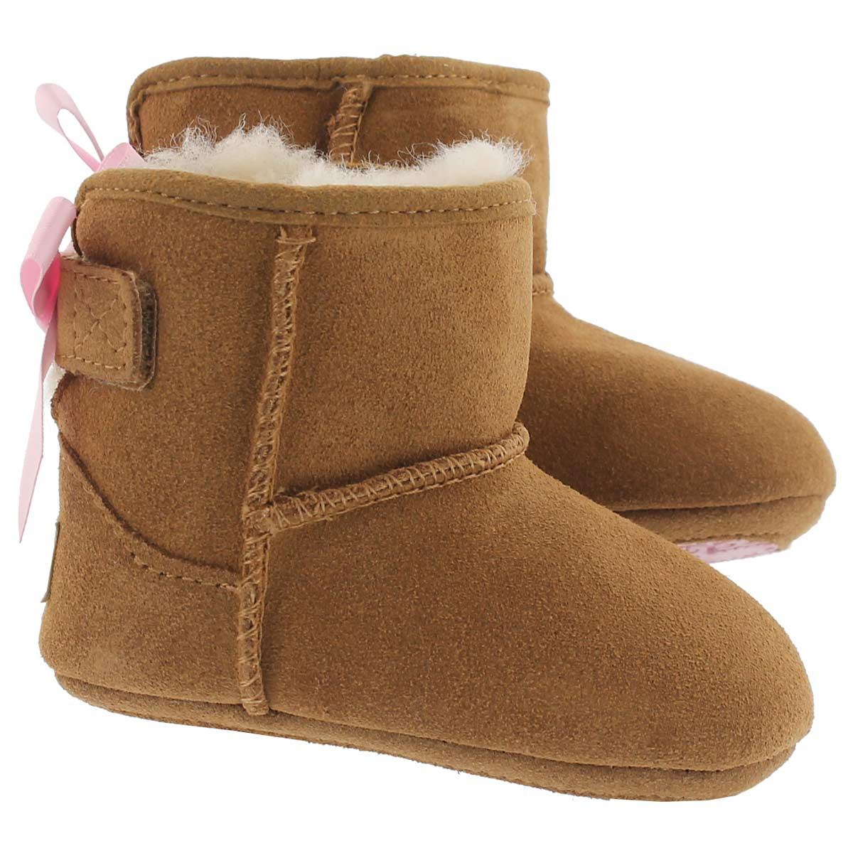 Inf Jesse Bow chestnut sheepskin boot