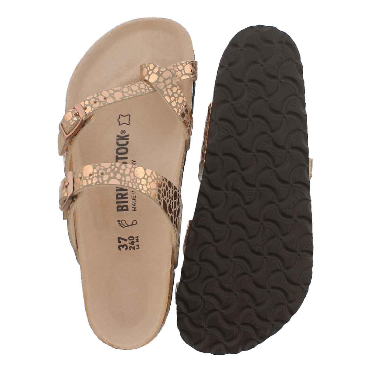Lds Mayari BF mtlc stone cppr toe sleeve