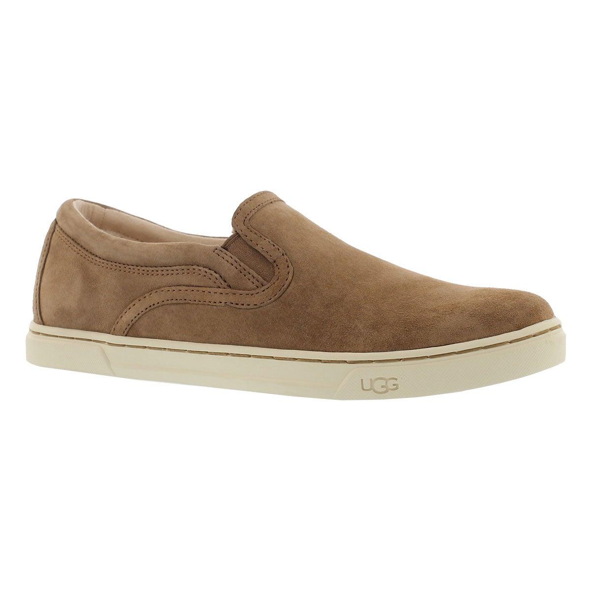 Lds Fierce chestnut slip on loafer
