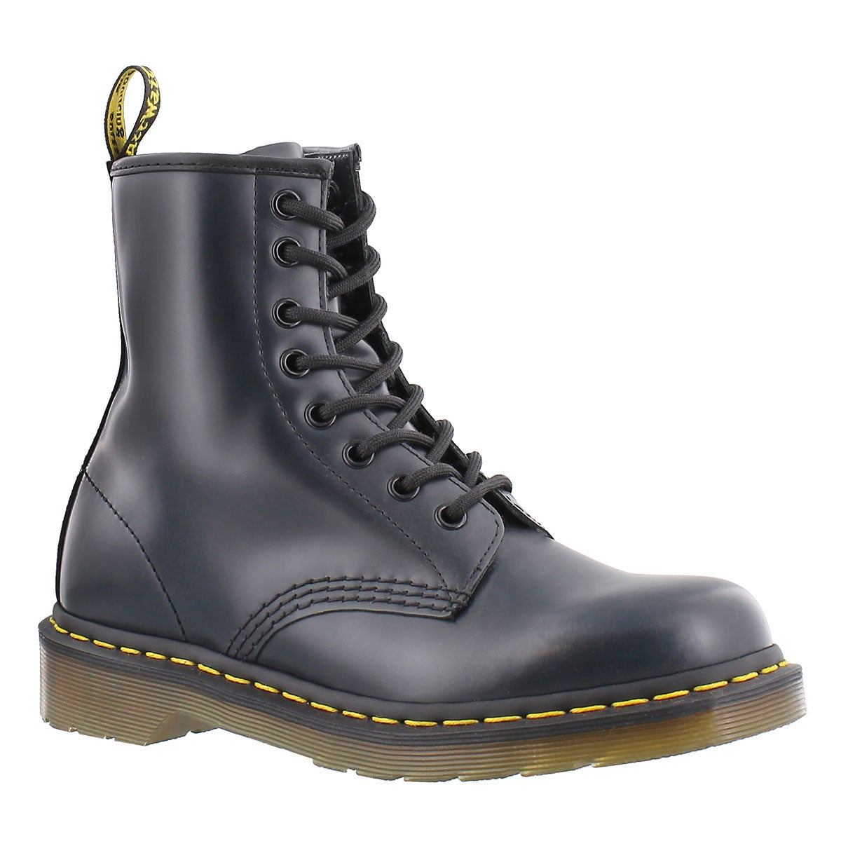 Women's 1460 8-Eye navy smooth leather boots