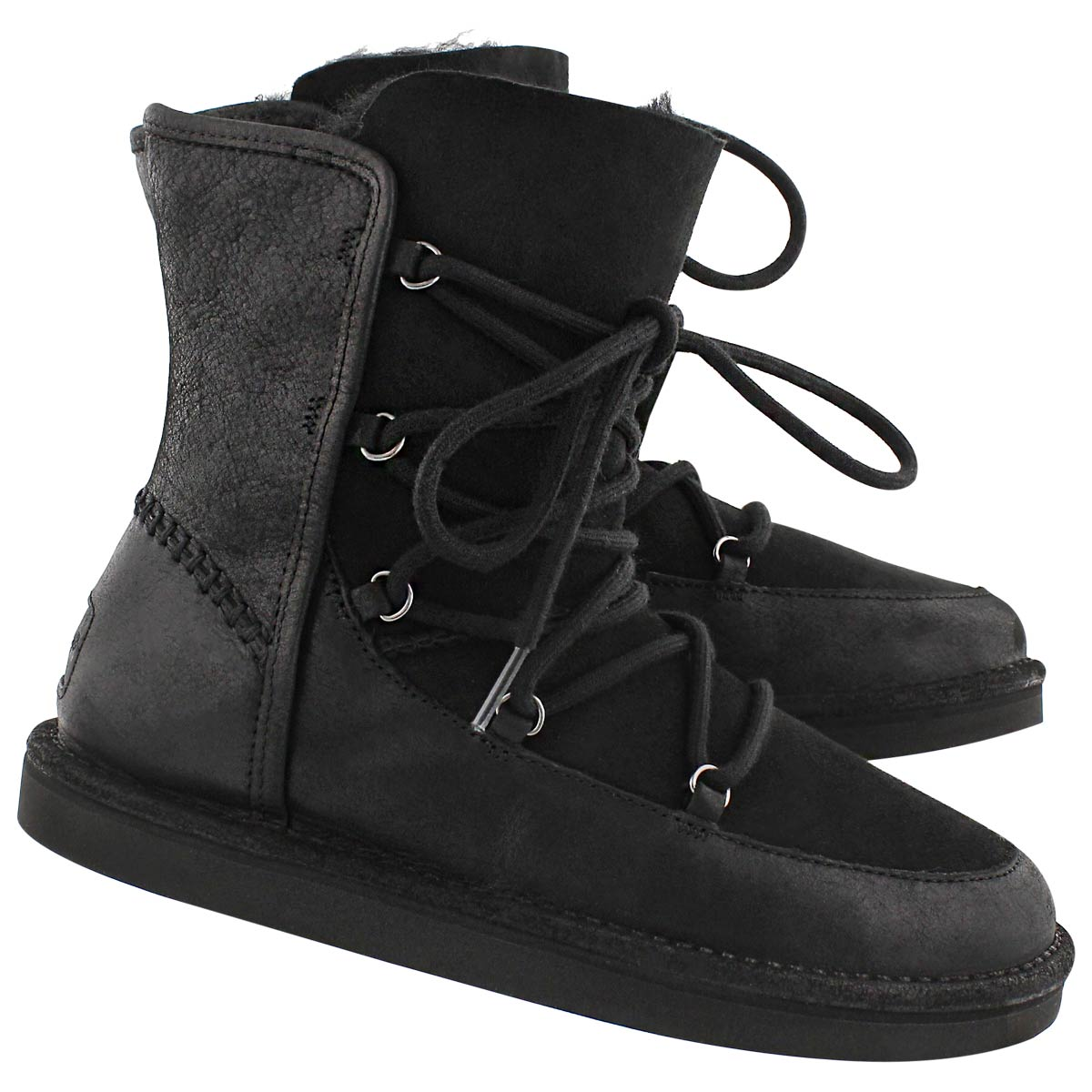 Lds Lodge black lace up casual boot