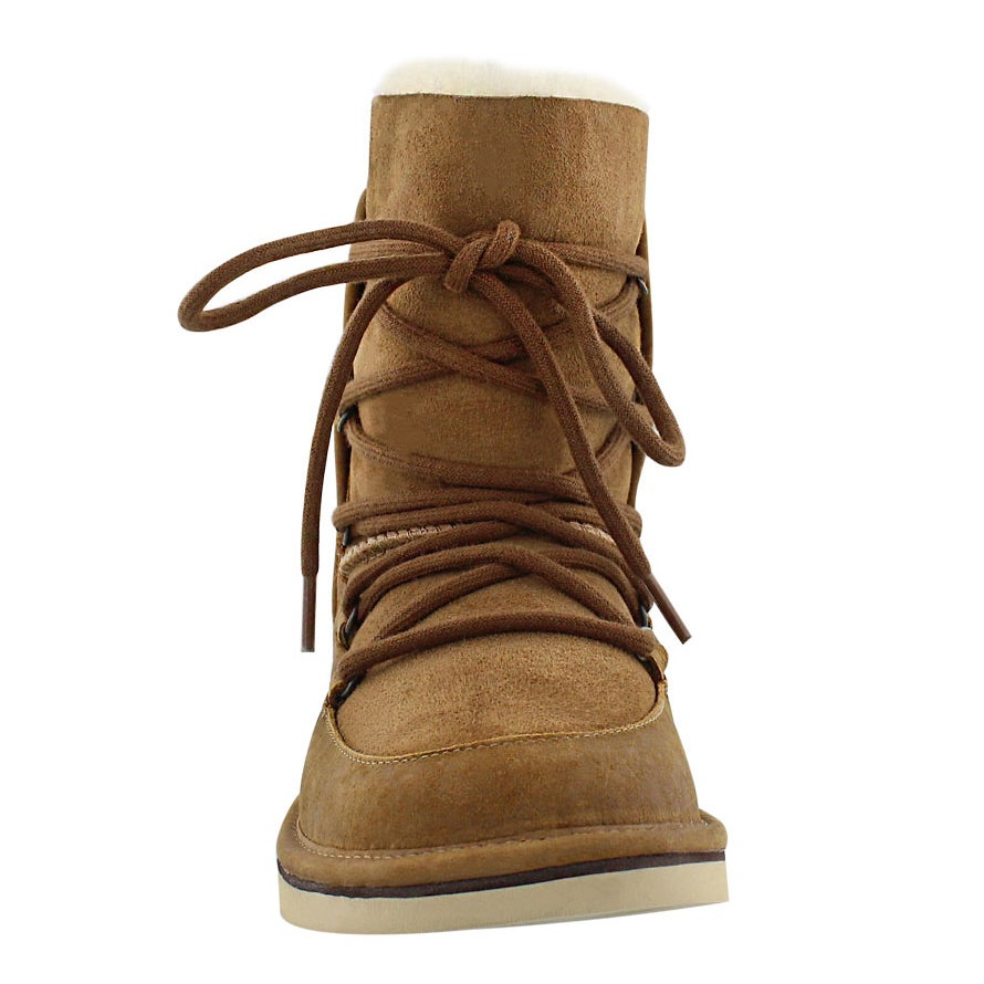 Lds Lodge chestnut lace up casual boot