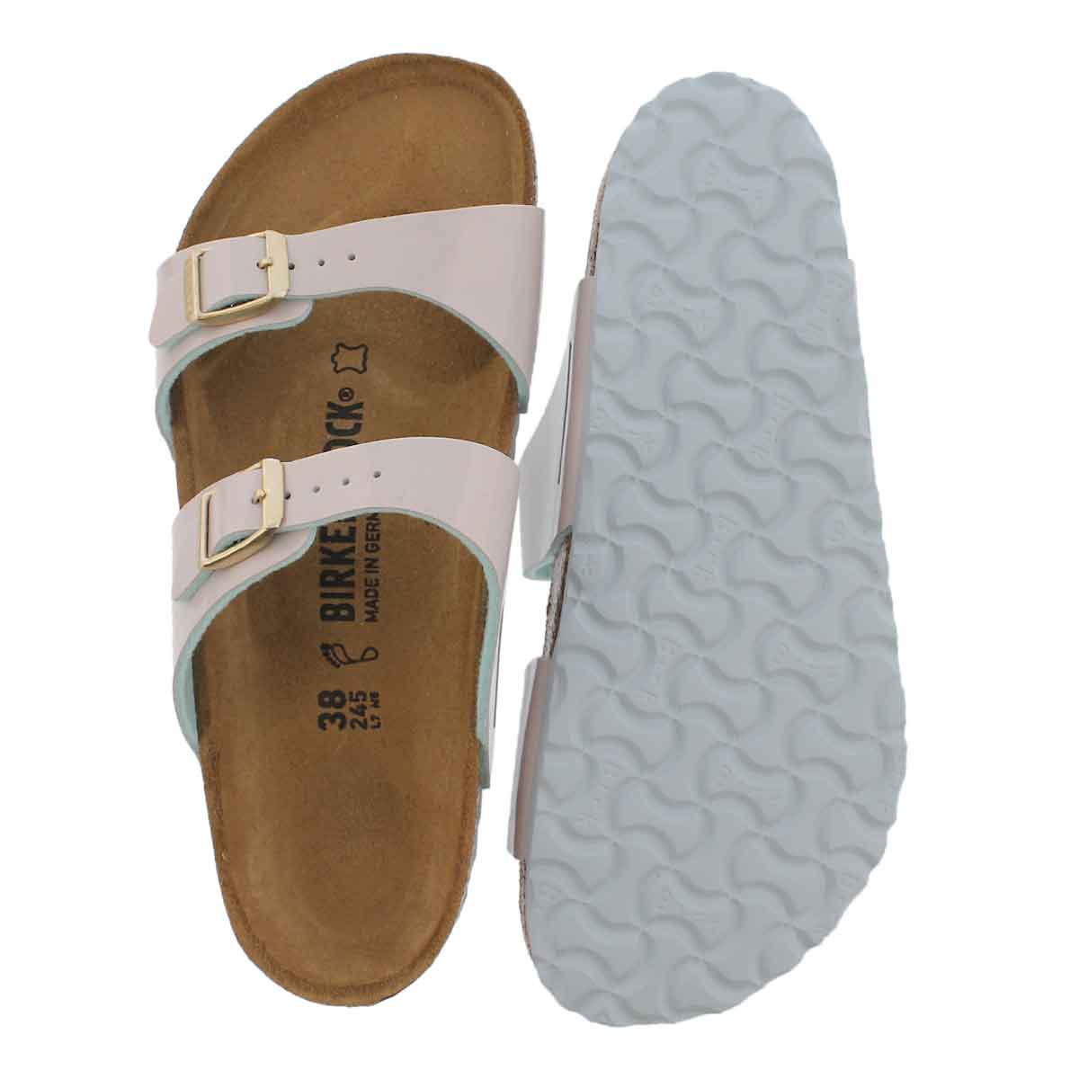 LdsSydney BF two tne lght gry pat sandal