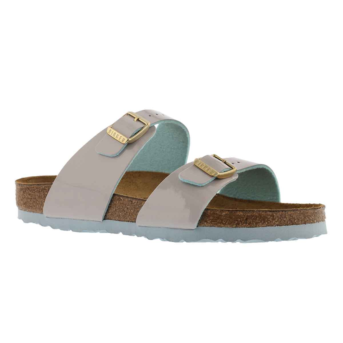 Women's SYDNEY BF  two tone light grey pat sandals