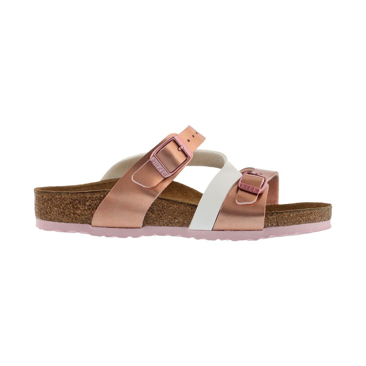 Grls Salina BF sft mtlcs rse wht sandal