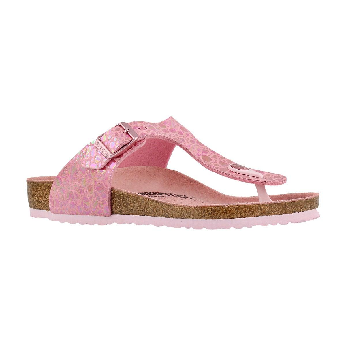 Girls' GIZEH BF metallic pink thg sandals - Narrow
