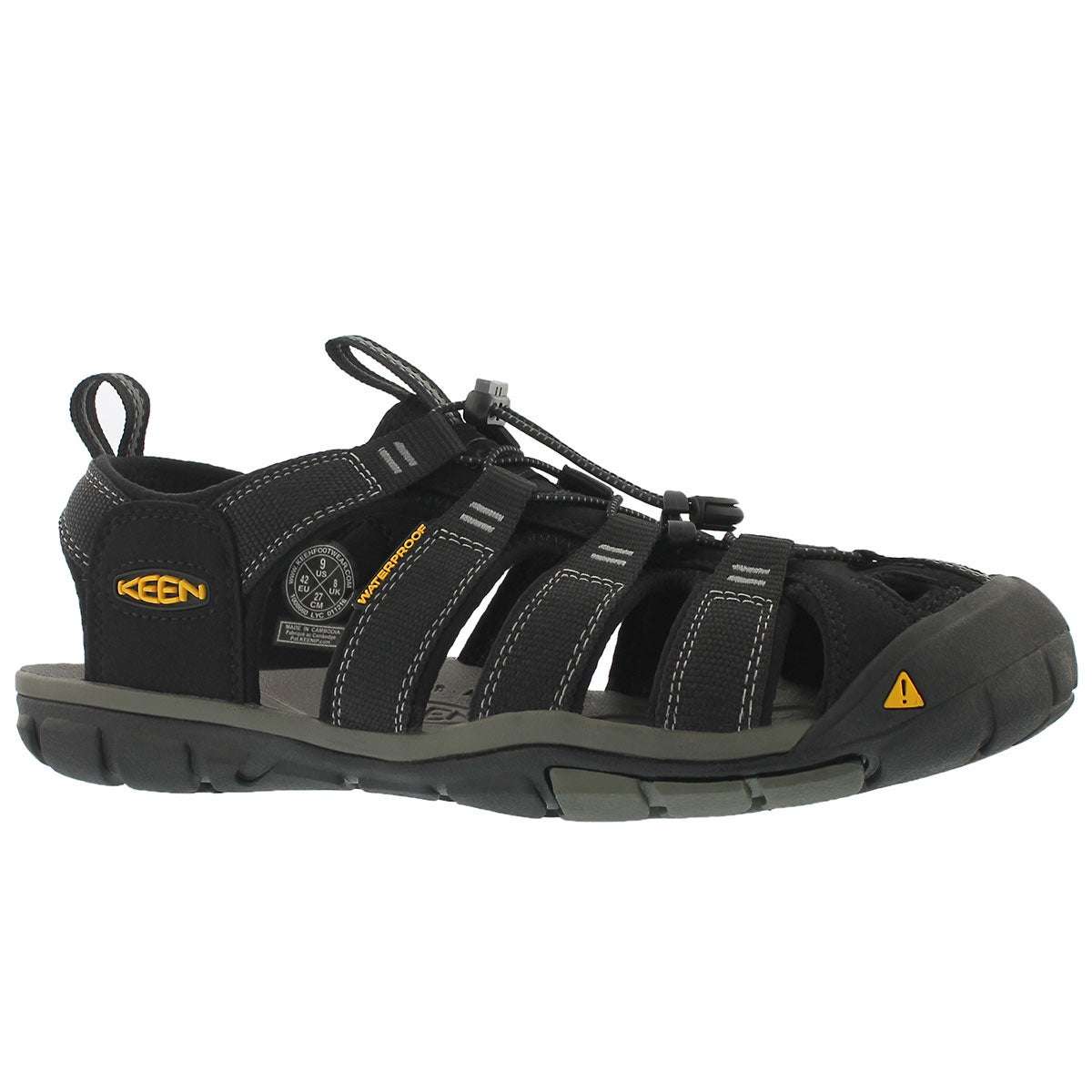 Men's CLEARWATER CNX blk/gry fisherman sandals