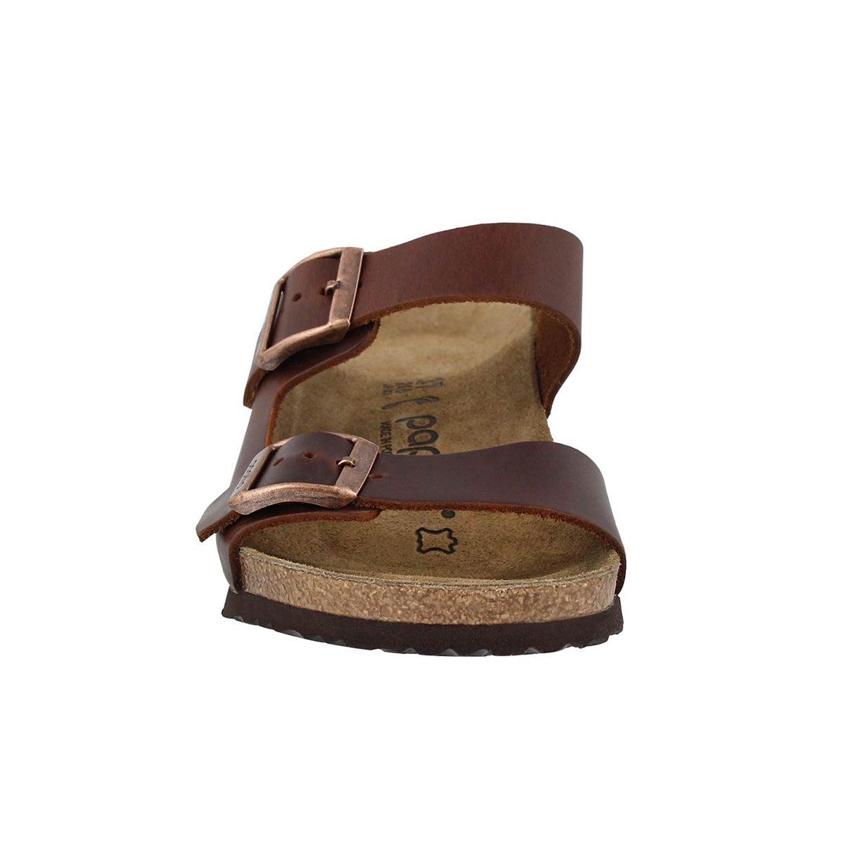 Lds Emina LTR cognac wedge sandal-N