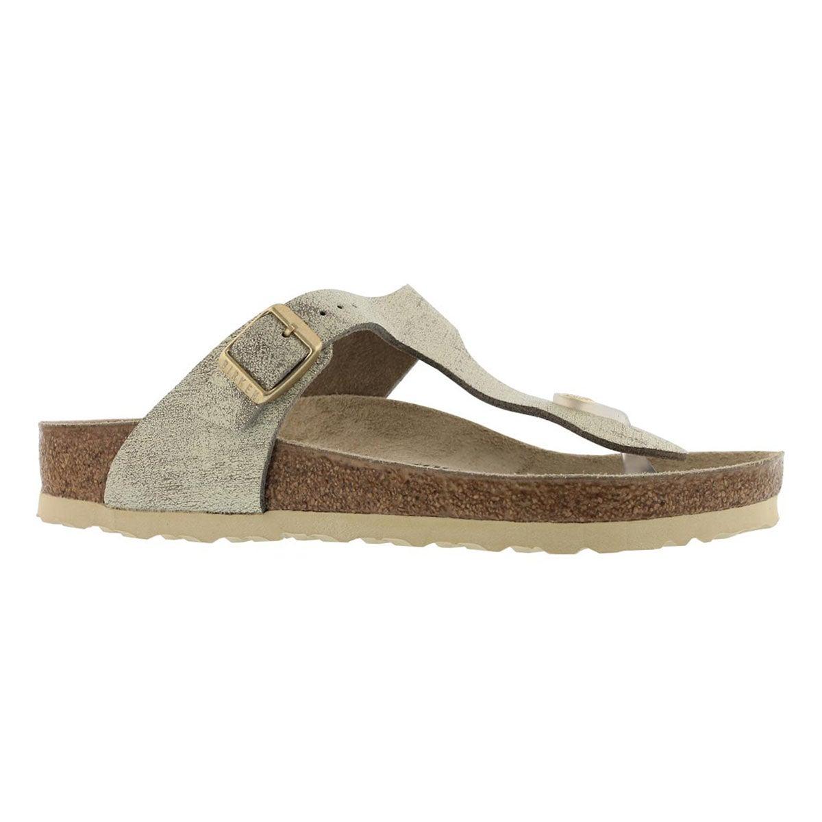 Women's GIZEH LTR wshd mtlc crm gld sandals