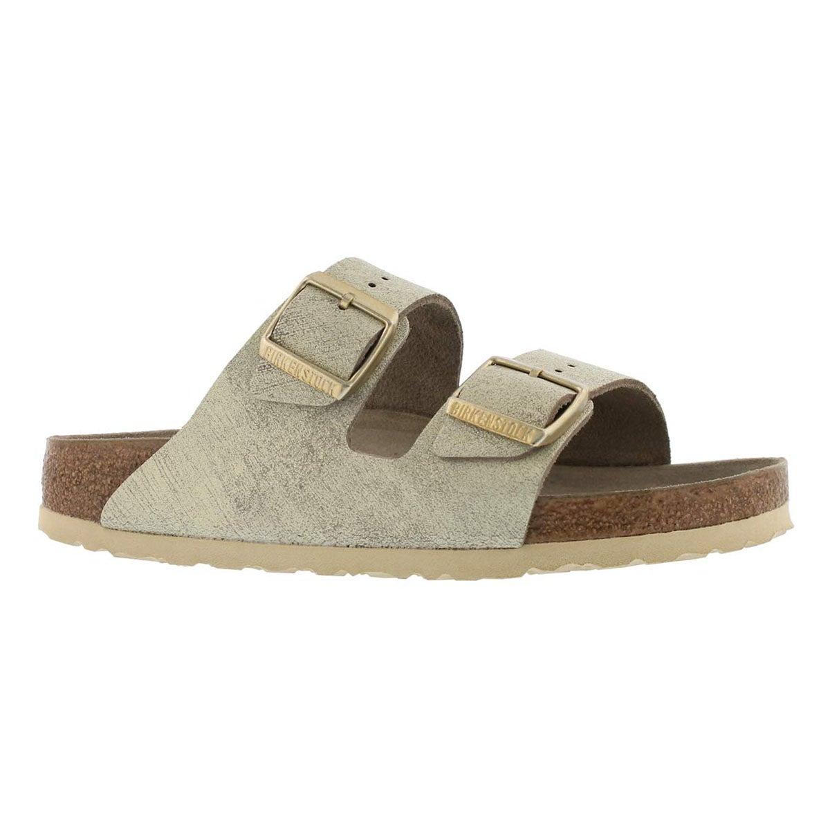 Women's ARIZONA LTR wshd mtlc gld sandals - Narrow