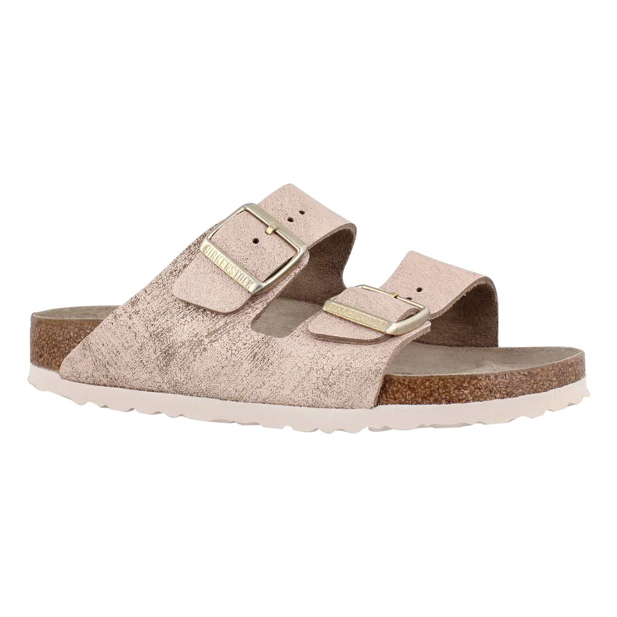 Women's ARIZONA LTR mtlc rse gld sandals - Narrow