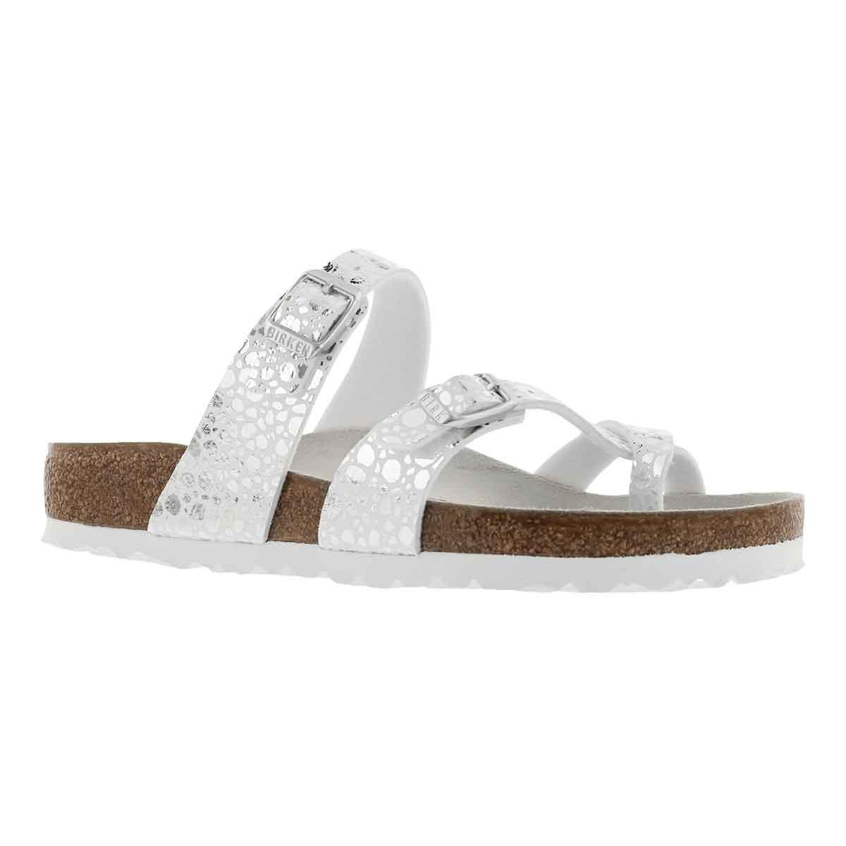 Women's MAYARI BF metalic stone silver sandal