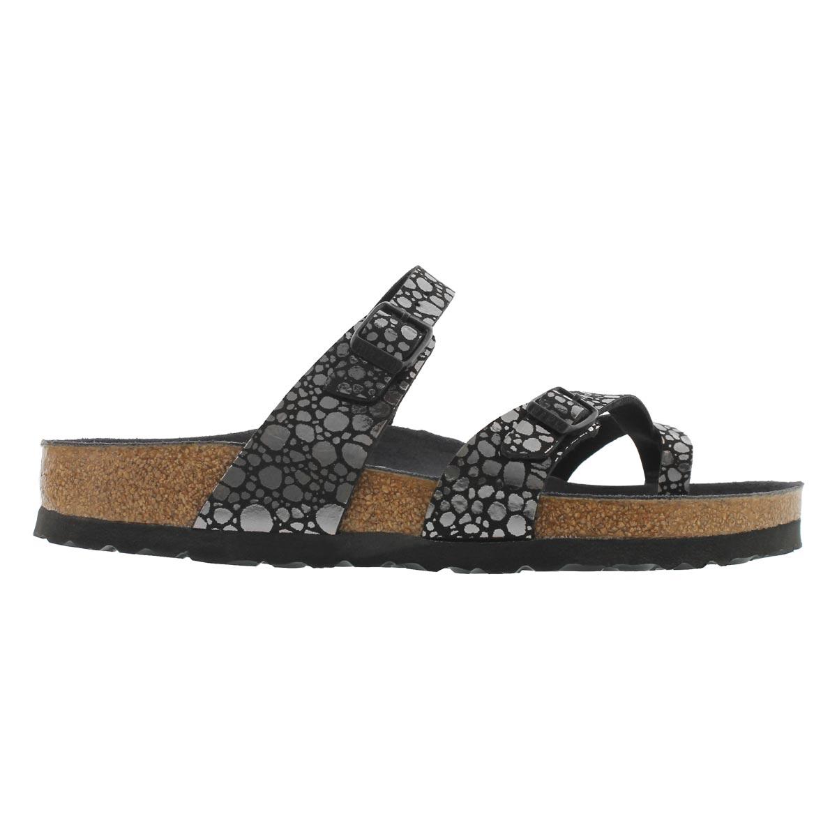 Sandale MayariBF, galets noir mét, fem