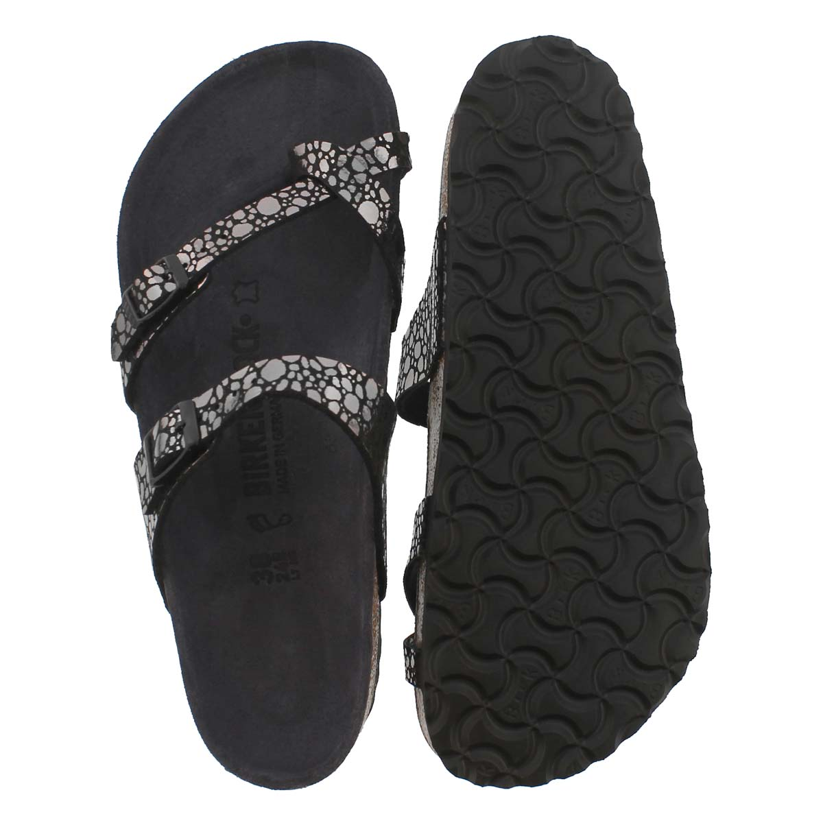Lds Mayari BF metallic stones black sndl