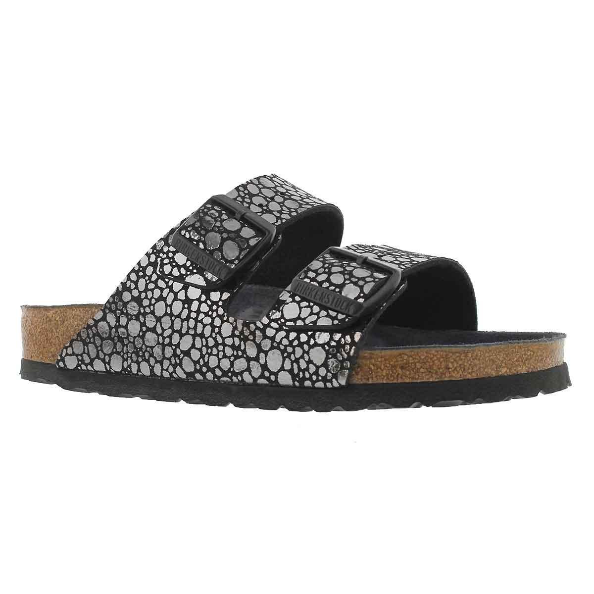 Women's ARIZONA BF metallic stones blk sandals