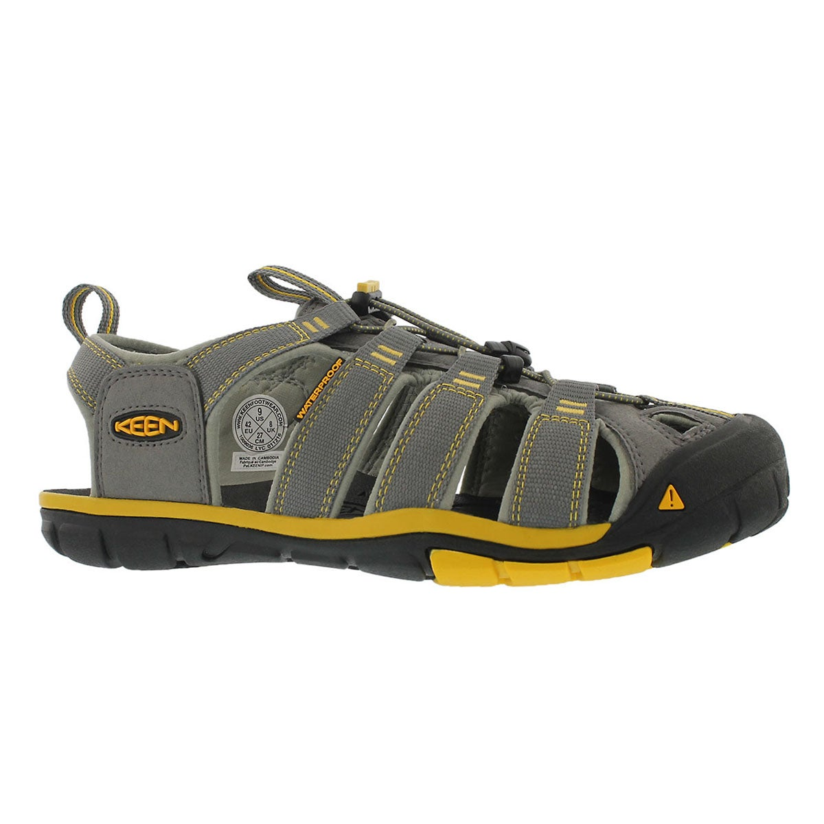 Men's CLEARWATER CNX gry/ylw fisherman sandals