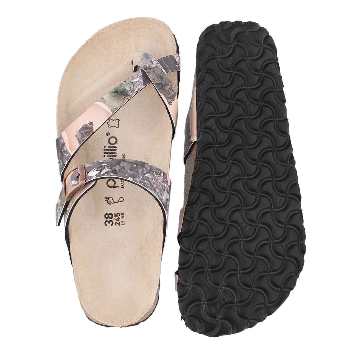 Lds Tabora BF cryst lilac toe thong sndl