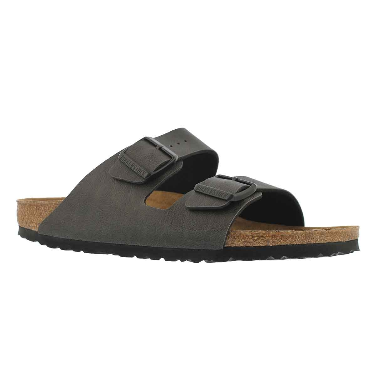 Men's ARIZONA Veg pullup anthrcte sandals - Narrow