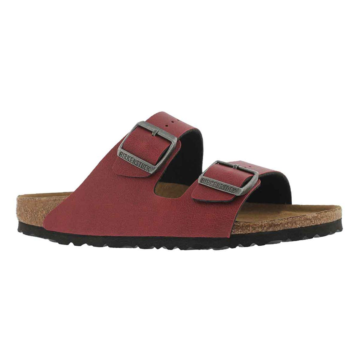 Women's ARIZONA VEG BF  bordeaux sandals - Narrow