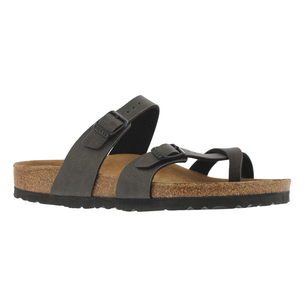 Women's MAYARI VEG BF pullup anthracite sandals