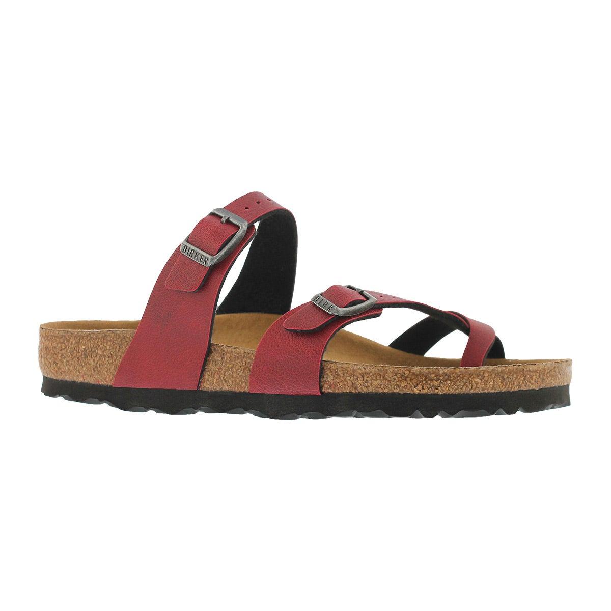 Women's MAYARI VEG BF pullup bordeaux sandals