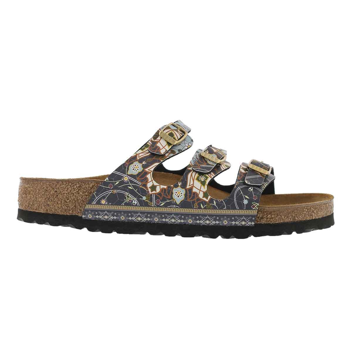 Lds Florida BF ancient mosaic blu sandal