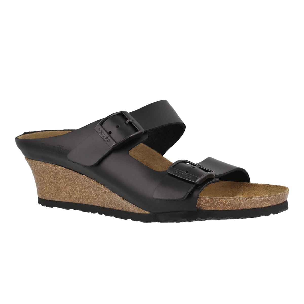 Women's EMINA LTR black wedge sandals - Narrow