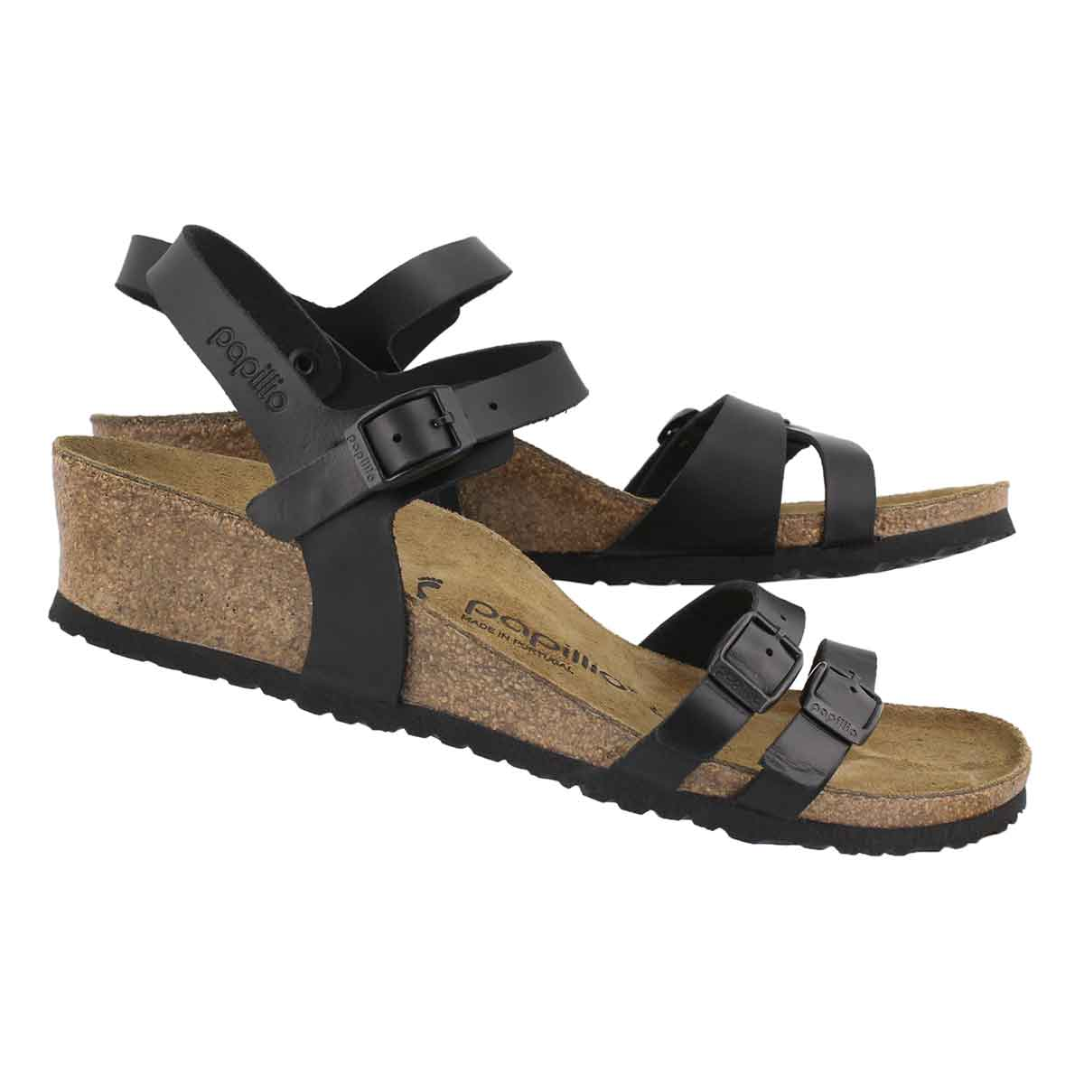 Lds Lana LTR black wedge sandal-N