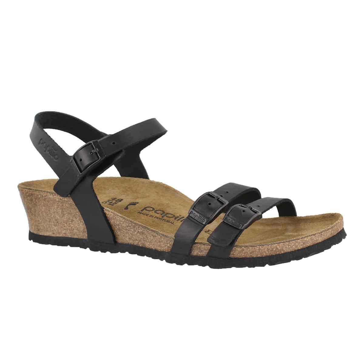 Women's LANA LTR black wedge sandals - Narrow