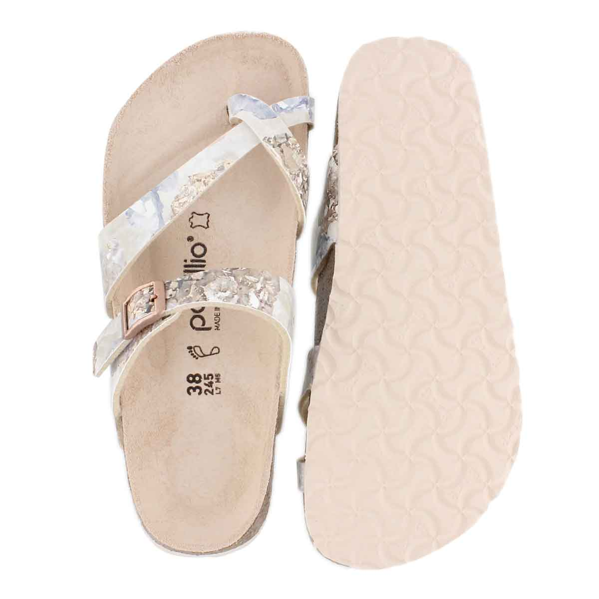 Lds Tabora BF cryst rose toe thong sndl