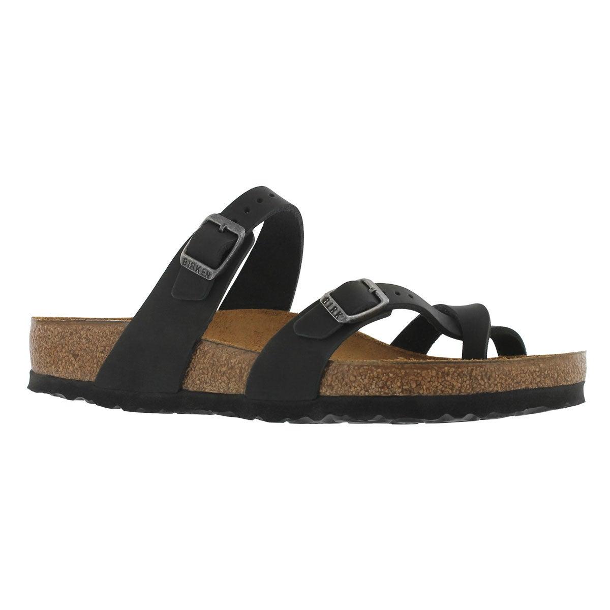 Women's MAYARI OLTR black thong sandals