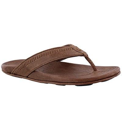 Mns Hiapo toffee thong sandal