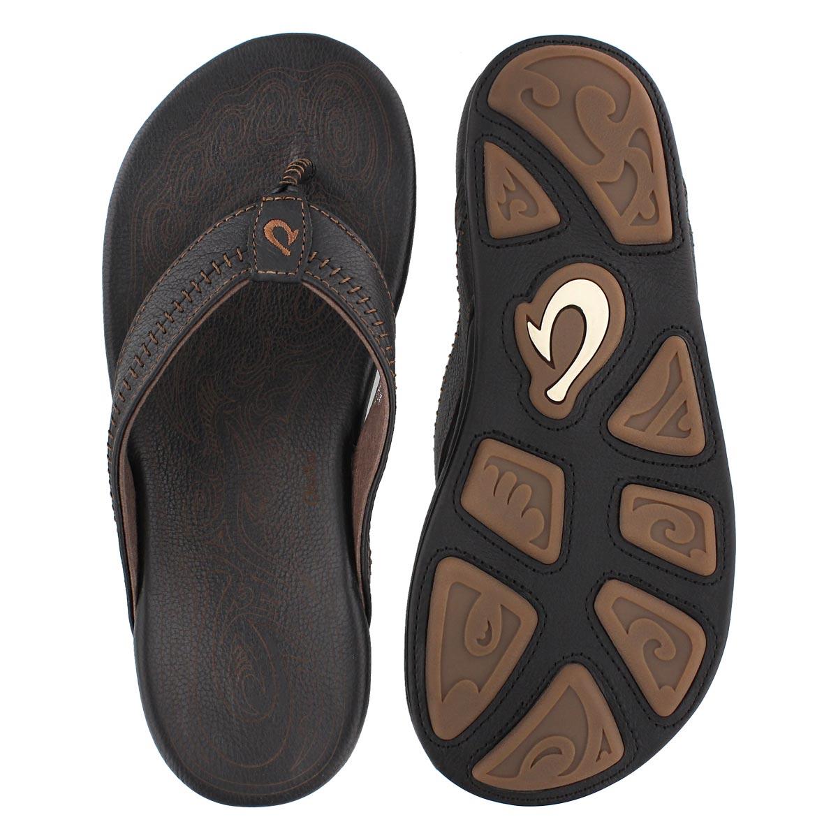 Mns Hiapo black/black thong sandal