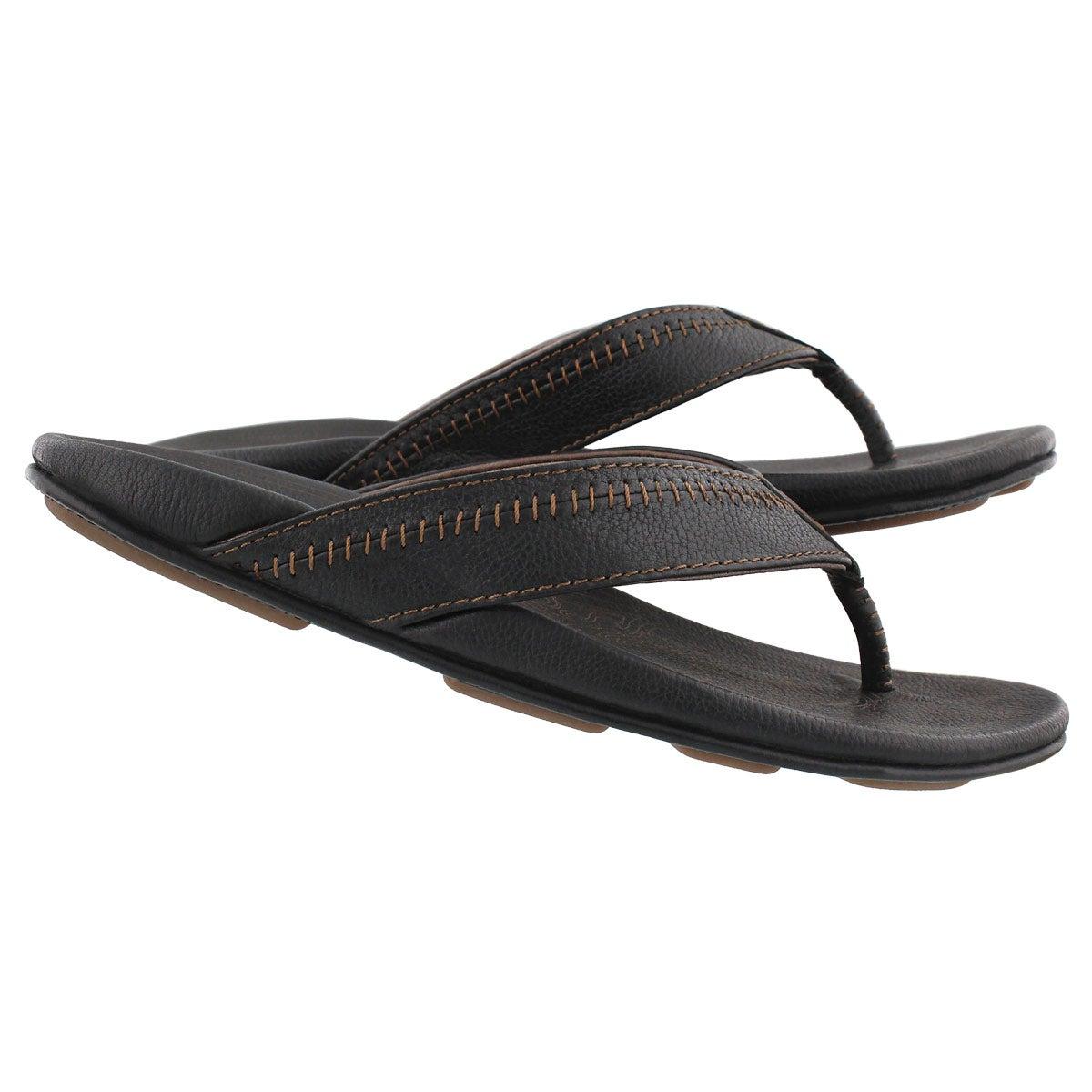 3c064602b OluKai Men s HIAPO black black thong sandals
