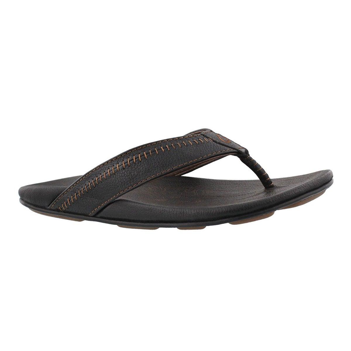 Men's HIAPO black/black thong sandals
