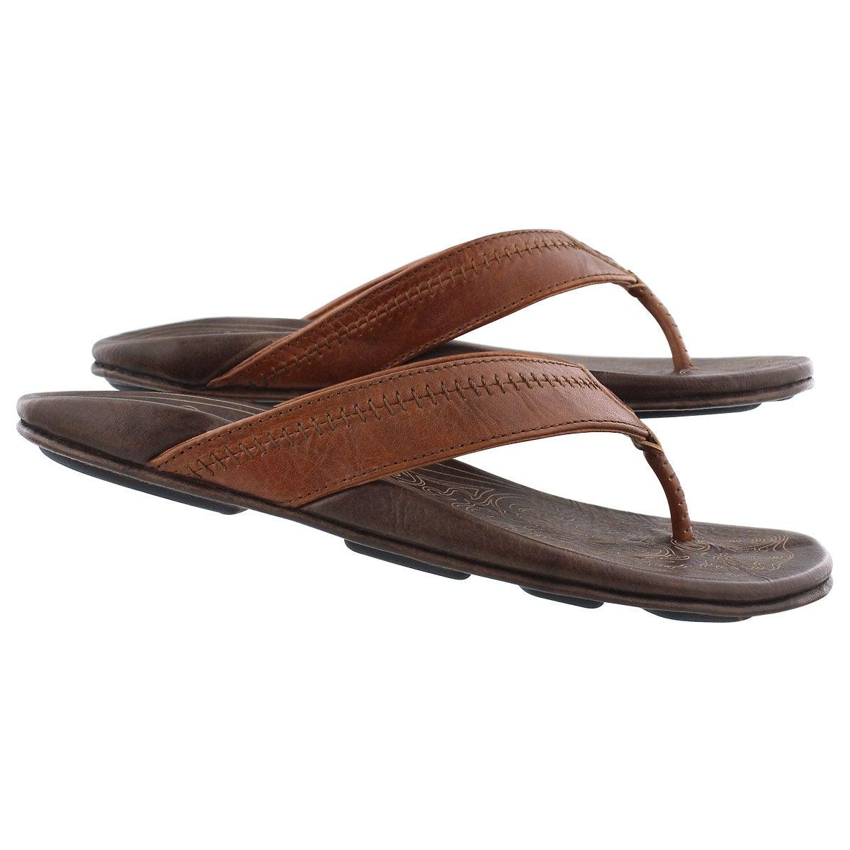 Mns Hiapo rum/dark lava thong sandal