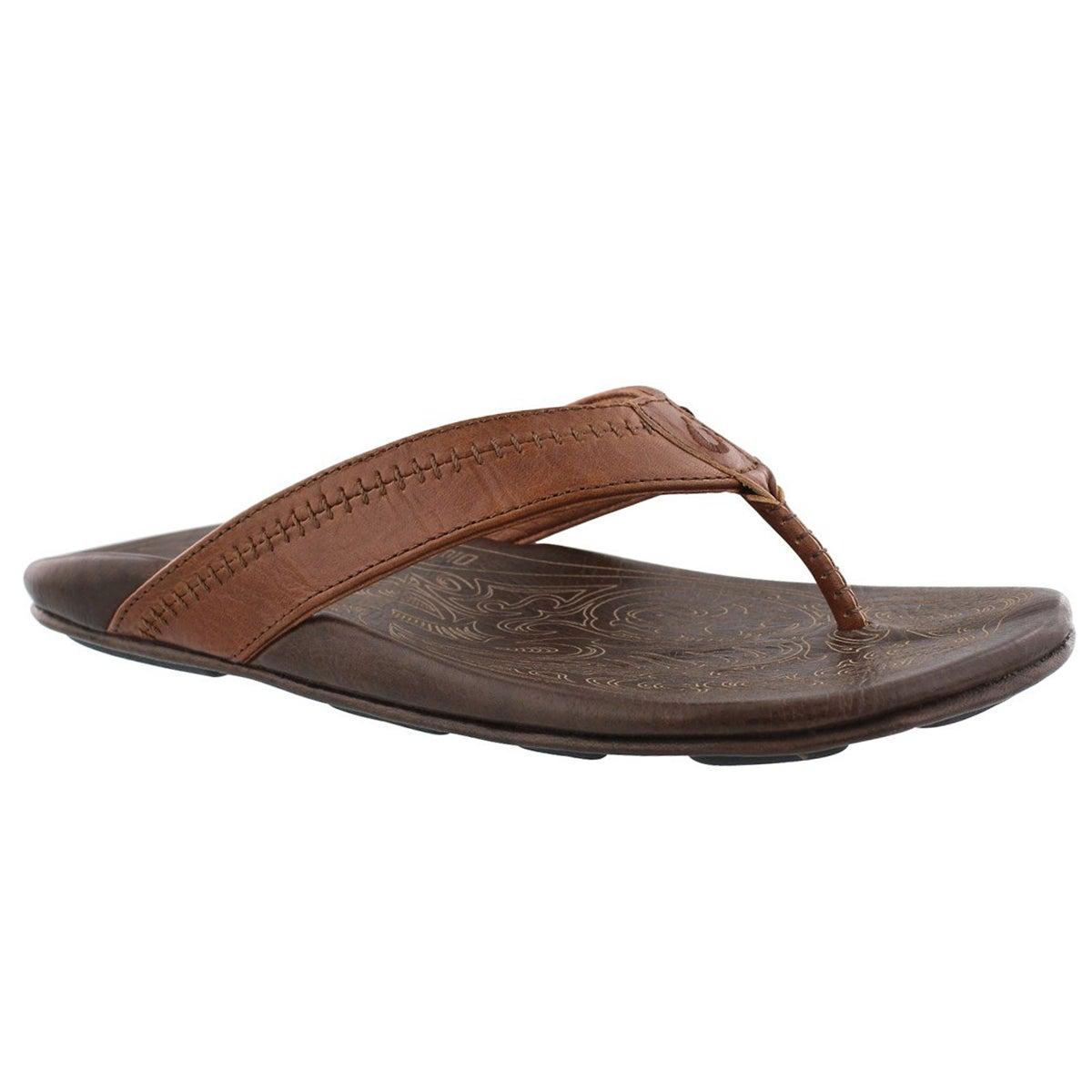 Men's HIAPO rum/dark lava thong sandals