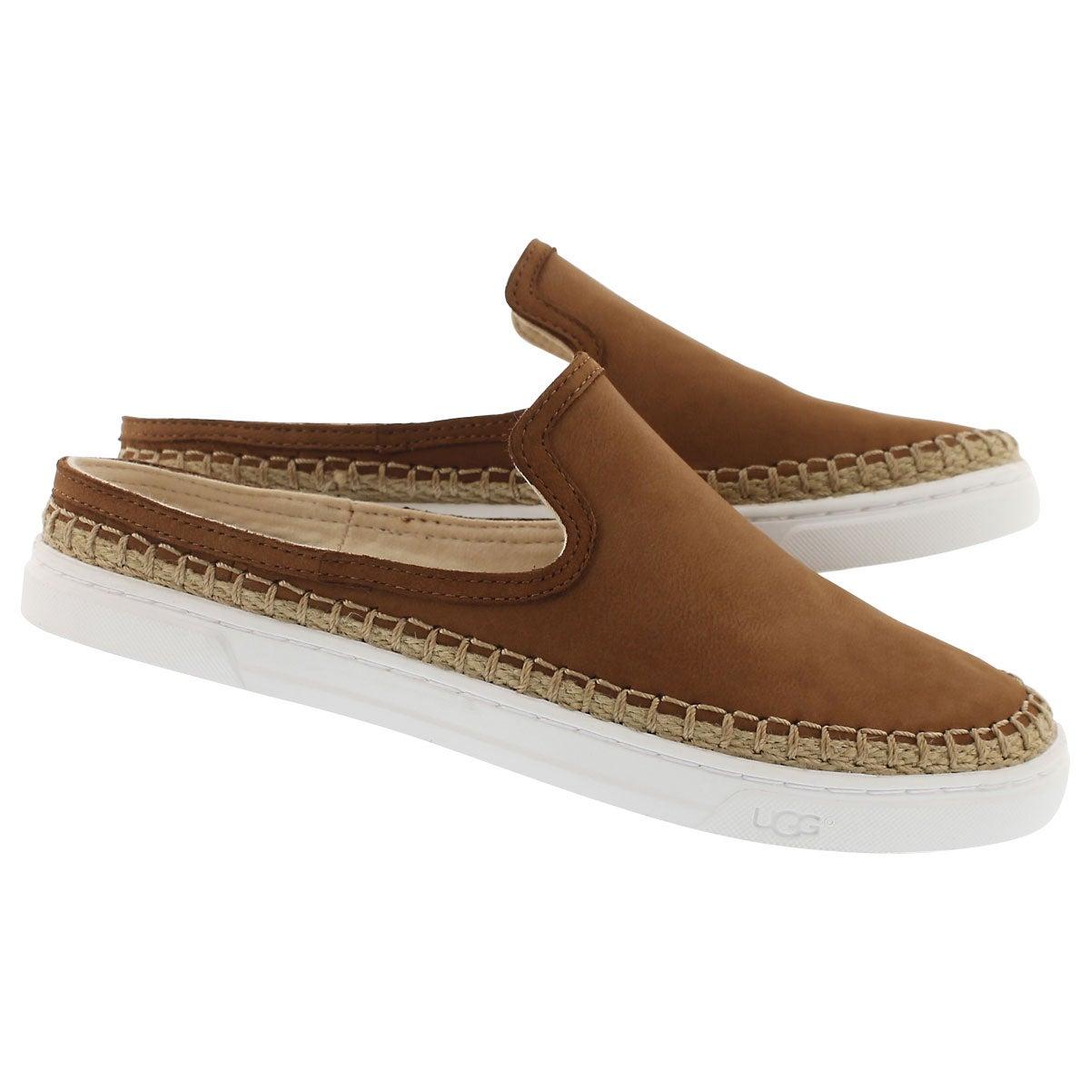 Lds Caleel chestnut open back loafer