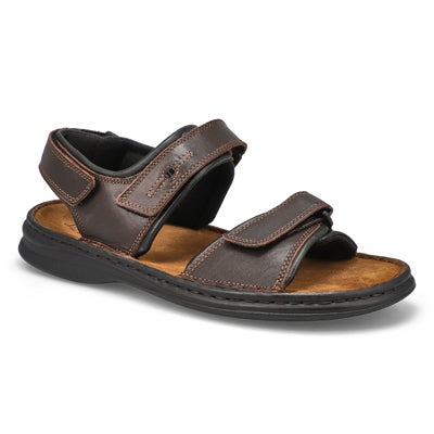 Mns Rafe brn leather wide casual sandal