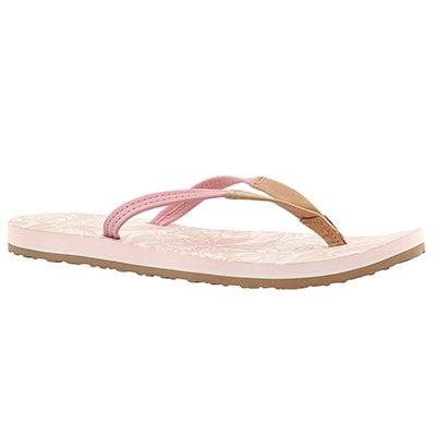 UGG Australia Women's MAGNOLIA ISLAND FLORAL blush flip flops