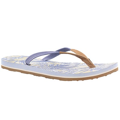 UGG Australia Women's MAGNOLIA ISLAND FLORAL blue flip flops