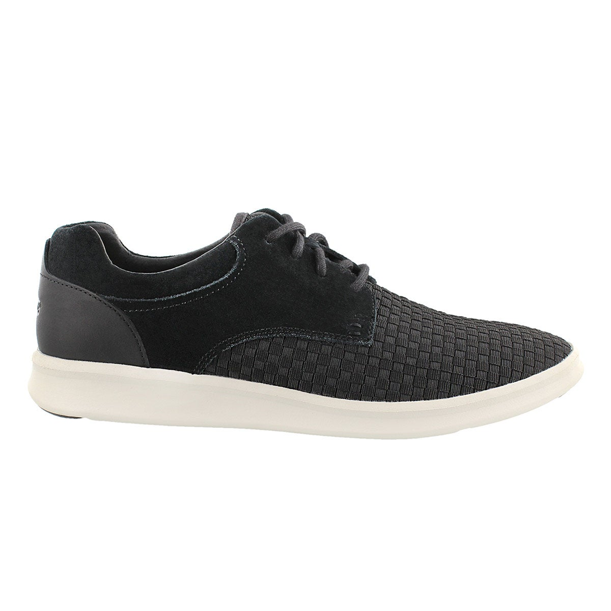 Mns Hepner Woven blk casual lace up shoe