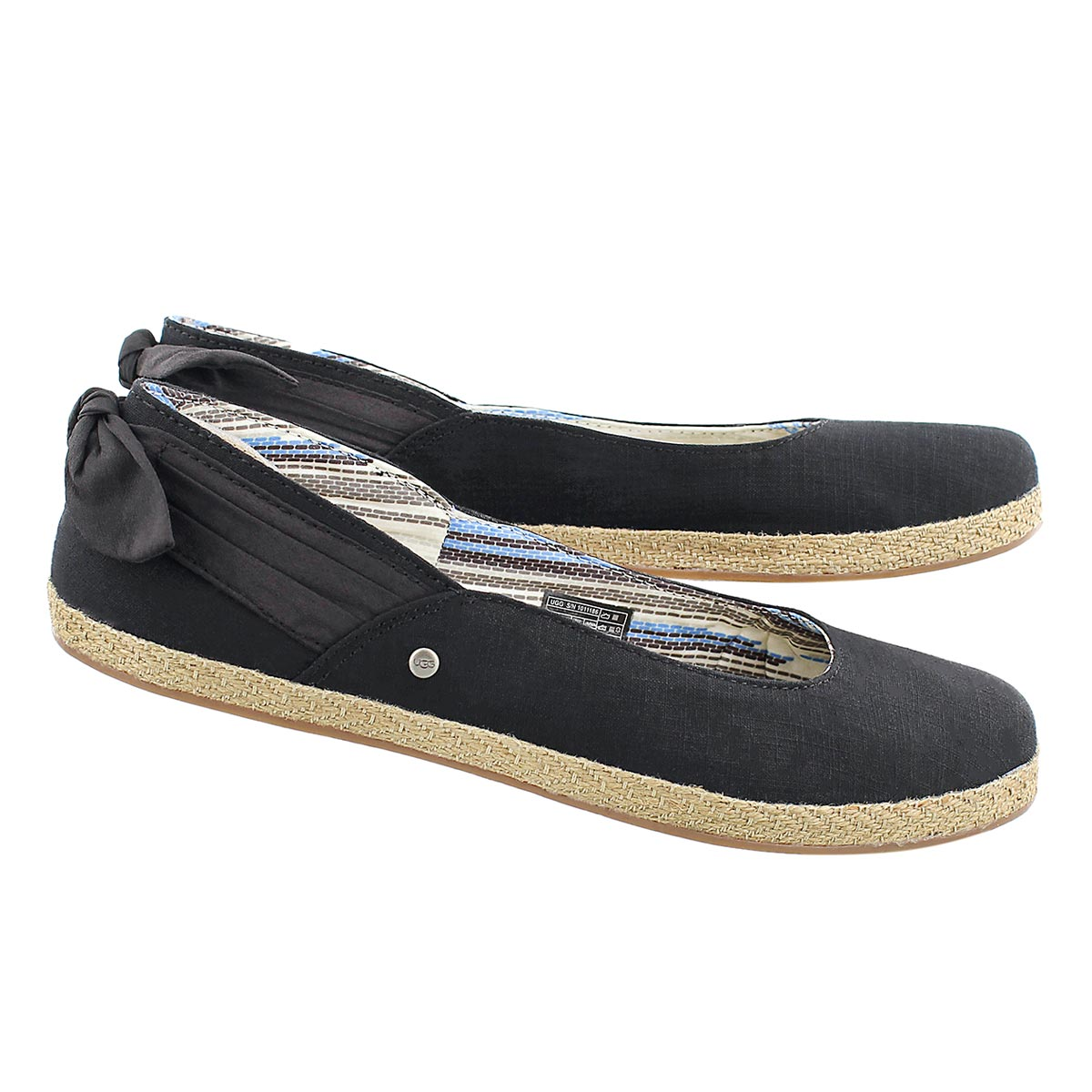 Lds Perrie black slip on espadrilles