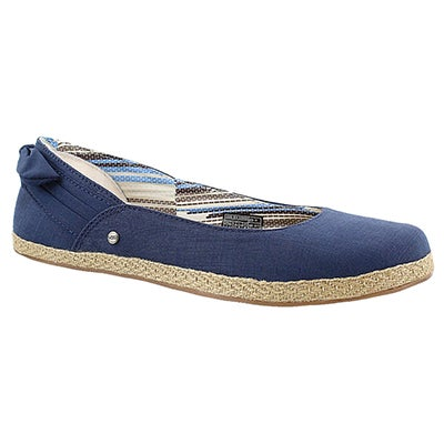 Lds Perrie navy slip on espadrilles