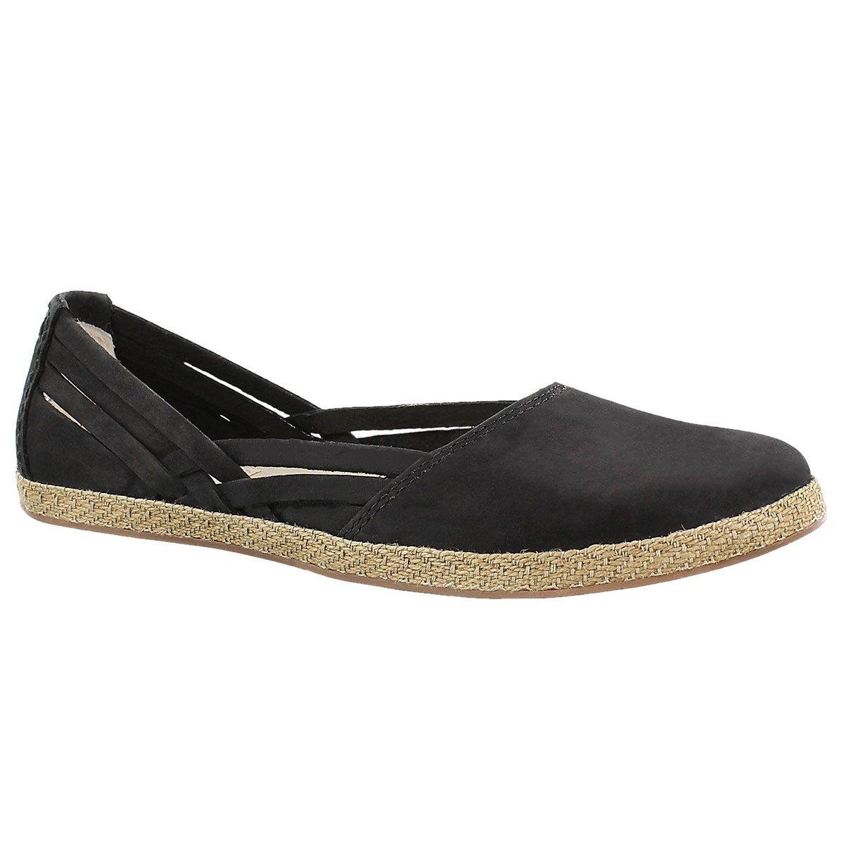 Women's TIPPIE black slip on espadrilles