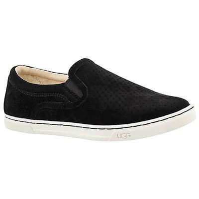 UGG Australia Women's FIERCE GEO PERF black slip on sneakers